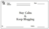 Stay calm keep blogging