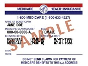 Medicare Insurance Card 175 pixels