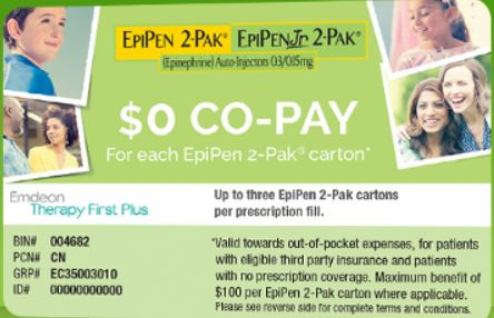 Epipen coupons discounts