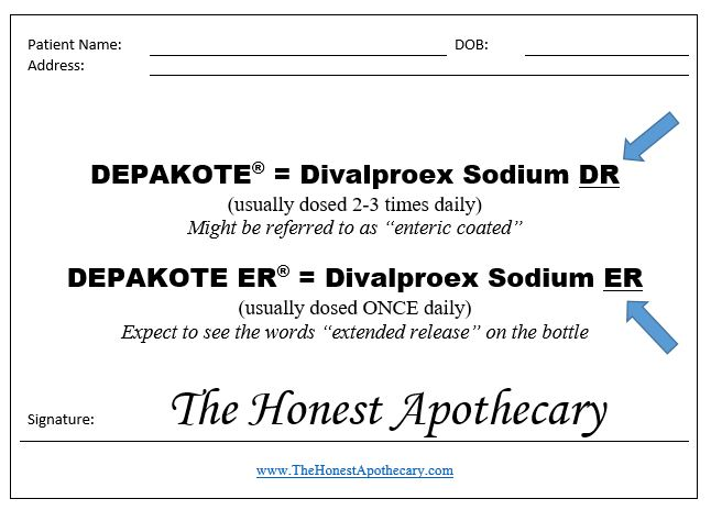 Divalproex prescription